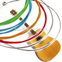 Wholesale High quality Set Rainbow Colorful Color Steel Strings for Acoustic Guitar M T1475 W0