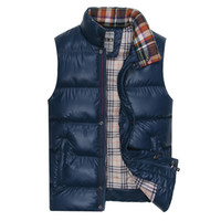 Wholesale 2014 Autumn Winter Men s Vest Casual Slim Thermal Outwear Brand Sport Waistcoat For Men Blue Green Black Plus Size High Quality