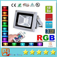 Wholesale Led Flood Light RGB W W W Led Floodlights Waterproof Led Outdoor Lights Color Changing Memory Function AC V Remote Control