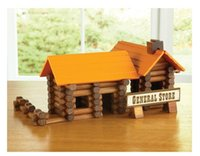american logging - Lumber jax log set Tree haus Lincoln logs American Building blocks Assembling toys C Guarantee Water paint Smooth Edges