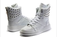 Cheap Autumn 2014 men shoes, rivets leather boots,Justin Bieber high-top men sneakers with height increased and Velcro Casual shoes.