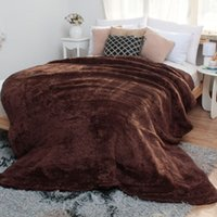 Wholesale Export the original single coral cashmere blankets double thick winter winter enlarged quilt quilted velvet