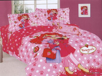 bedspread shop - Moranguinho Strawberry Window Shopping Girl Bed Sets Duvet Covers Cotton Twin Spots Polka Dots Bedspreads Bedding Comforter Set