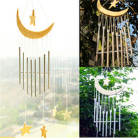 bamboo garden design - Beautiful and Romantic Design Tube Moon Star Wind chimes Yard Garden Outdoor Living Wind Chimes CM