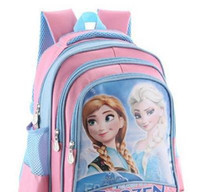 Wholesale 13 quot Frozen elsa anna Bag Cartoon Children School Backpack Bags CM Three Layer Medium School Bag
