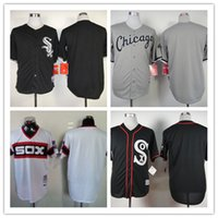 baseball football player - Baseball Jerseys Men WhiteSox blank Black white grey stitched Top quality Football Jersey Mix Order More Player Free Fast Shipping
