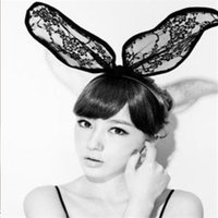 Wholesale B183 Korean version of the influx of people the flamboyant nightclub exaggerated oversized bow rabbit ears hair bands headband Headwear