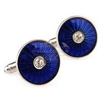 Wholesale blue enamel cufflinks cufflinks cufflinks AE8322 USB Epoxy Technology