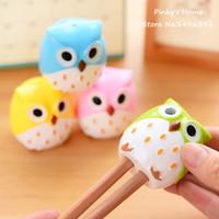 Wholesale Kawaii Owl Pencil Sharpener Cutter Knife Promotional Gift Stationery Eyeliner Sharpener