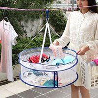 basket hangers - Hot Sales Double Layer Laundry Clothes Sweater Dryer Rack Hanger Hanging Mesh Basket Cx28