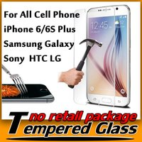 Wholesale Premium Real Tempered Glass Film Screen Protector for Galaxy S6 edge Note iPhone S Plus inch iPhone SE S S MOTO G3 G2