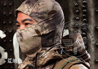 balaclava camo - Balaclava mask military tactics hood fast drying protective headgear Caps Tatico mascara Kryptek Camo face mask