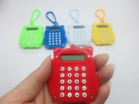 Wholesale Lucky Cat calculator Keychain calculator mini calculator with colored pupils