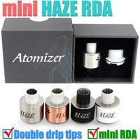 2015 nouveau Haze Mini RDA Clone 22mm Mini Haze Double grand goutte à goutte trousse cadeau kits Réutilisable Atomizer 510 Acier inoxydable Cuivre e cigs vape RBA