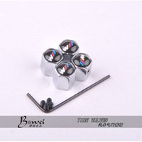 tyres car - Theftproof Stainless Steel Car Wheel Tire Valves Tyre Stem Air Caps Airtight Cover For BMW modifications m