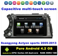 car tv radio - HD din quot Pure Android Car DVD PC for Ssangyong Actyon sports With G WIFI BT IPOD TV GPS Radio RDS