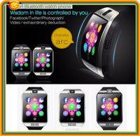 arabic news - 100 dhl free News SIM card Bluetooth3 Smart Watch phone q18 with TF FM pedometer alarm clock camera bluetooth sync