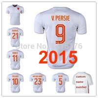 Tailandia aaa ROBBEN Holanda maillot 2015 V Persie Sneijder holanda fútbol Jersey 15 16 Blanca Holanda camiseta de la camisa del futbol