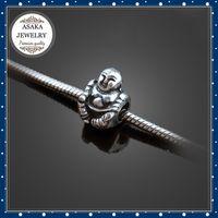 Wholesale 925 Silver High quality maitreya big hole European Beads Fits Silver Charm diy Bracelets necklaces pendants S55A