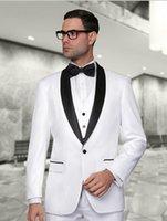 Tuxedos best linen pants - 2015 New Arrival White Tuxedos men wedding suits Cheap Jacket Pants Tie Vest mens tuxedos Groom Suits Best men suits
