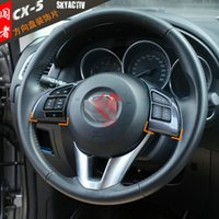 Wholesale Carbon Fiber Multi function steering wheel buttons cover AUTO car accessories For MAZDA CX CX5 set Car Styling