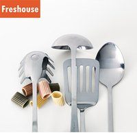 Wholesale 4Pcs Set Kitchen Cookware Utensils Stainless Steel Home Cooking Kitchen Tools Tableware Sets Spoon Shovel IKEA Health g
