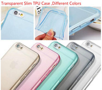 apple i phone - SlimTransparent mm galaxy s6 case Soft TPU Case Cover For i phone plus s s Samsung s5 s6 note4 HTC M8 Sony Z3 cellphone cases