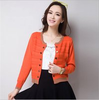 Wholesale New Spring Autumn Womens Ladies Fashion Korea Solid Slim Casual Suit Blazer Soft Knitwear Cardigan Shirt Coat Jacket Sweater