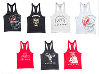 Wholesale Mens Tank Tops latest shirt design for men Newest Summer Mens GYM Fitness Bodybuilding Vest Underwear hasding Skull tank tops singlets