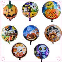 Wholesale 18inch Pumpkin skeleton Halloween balloons Aluminium Coating Balloon Bubble Foil Helium Balloon for Halloween party Decoration kids toys