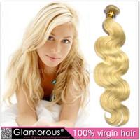 Cheap Body Wave Color 613 Blonde Hair Best Brazilian Hair machine Maylasian Body Wave Blonde