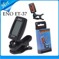 Wholesale ENO Clip Digital Tuner ET Clip on freely Turning Tuner for Chromatic Acoustic Electric Guitar Bass Violin Ukulele Wind Instrument