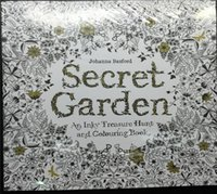 Wholesale 200 set Secret Garden An Inky Treasure Hunt and Coloring Book For Children Adult Relieve Stress Kill Time Graffiti Painting Drawing Book