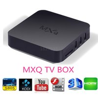 Wholesale TOP MXQ Android TV Box Amlogic S805 Quad Core Smart TV G G P KODI Pre installed MXQ S805 Media Player Henscoqi