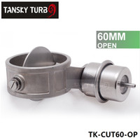 Wholesale Tansky NEW Vacuum Activated Exhaust Cutout Dump MM Open Style Pressure about BAR set TK CUT60 OP
