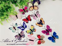 Wholesale Free ship cm mixed color cloth Butterfly glass globe filler the price is only butterfly