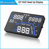 alarm system design - 5 Inch Multi color Design Screen Display Car HUD Compass GPS Head Up Display Security System Vehicle Over Speed Alarm
