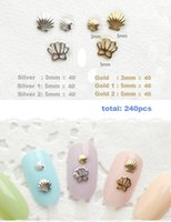 art cameo - ails Tools Rhinestones Decorations Gold Silver Cameo Shell Size Alloy Glitter Manicure For Charms Conch D Nail Art Decorat