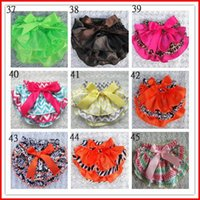 Christmas baby leopard boots - Hot Sale Styles Toddle Children PP Pants Baby Zebra Leopard Star Bloomers Dots Chevron Girls Satin Bow Ruffled Shorts with Ribbon T