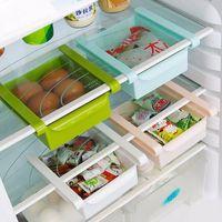 beverage drawer - New Plastic Kitchen Refrigerator Storage Rack Fridge Freezer Shelf Holder Pull out Drawer Organiser Space saver