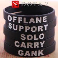 Wholesale 2015 LOL Bracelet Dota Bracelets Wristband League of Legends Game Sport wristband Game Silicon Bracelet Dota Bracelets Band Bracelets