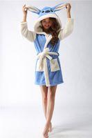 Wholesale Fashion Unisex New plush robe Adult Animal blue stitch Pajamas long sleeve lovely Sleepwear bath robes dressing gowns for women bathrobe