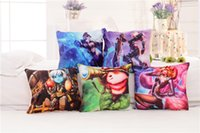 annie lol - LOL All Stars Ahri Gumiho Teemo Ashe Annie Morgana Ezreal League of Legends Hero Pillow cover Pillowcase