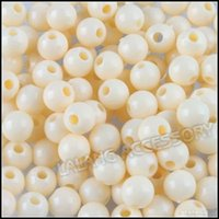 Wholesale 9000pcs Plastic Beads mm Beige Loose Beads Jewelry Beading Findings Earring Bracelet Necklace Making