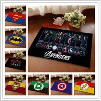 Wholesale 5 BBA5588 Superhero Doormat Superman Batman Captain America Animation Hero thor Bedroom Carpet Super Soft Mats Cartoon Floor Door Rugs