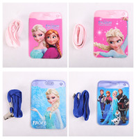 Wholesale 2016 Frozen Cartoon Elsa Anna ID HOLDER vertical plastic id card badge holder frozen card holder student card holder with sling A