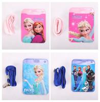 Wholesale Frozen Cartoon Elsa Anna ID HOLDER vertical plastic id card badge holder frozen card holder student card holder with sling A