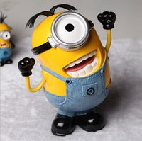 banking savings - Children Toys Despicable Me Character Kids Stuffed Toys Minions Resin Savings Bank Decoration For Table Size cm T1307