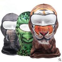 basketball face mask - 100pcs CCA3336 Designs D Balaclava Mask Outdoor Sports Cycling Basketball Golf Ski Hood Hat Balaclava Snowboard Protect Full Face Mask