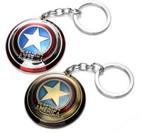 animations cars - The Avengers Captain America Shield Alloy Pendant Keychains hero key rings movie animation cartoon Fashion Accessories party xmas gift